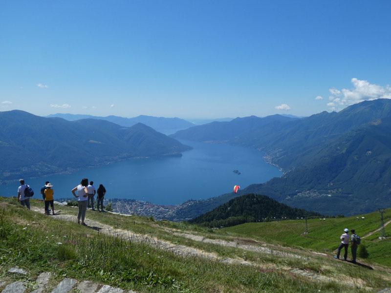 View of Lake Maggiore from Cimetta, Switzerland