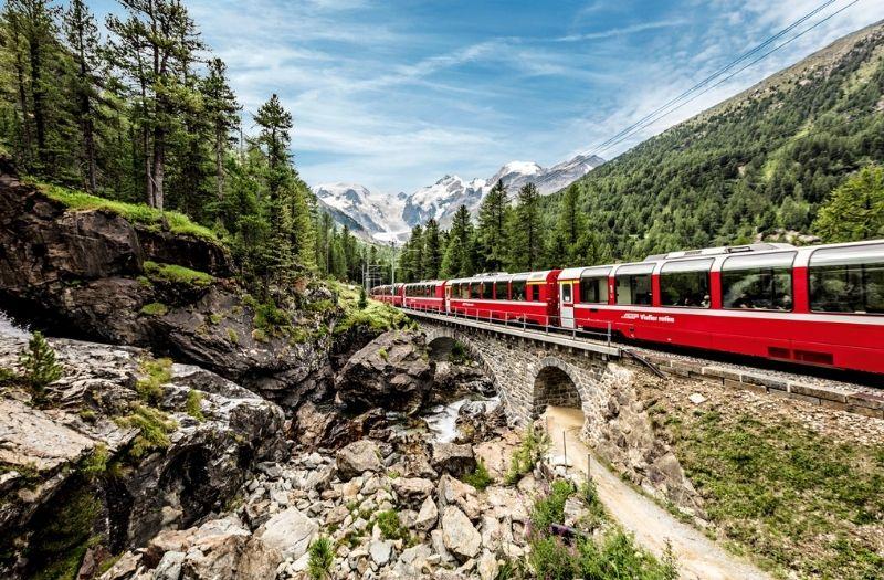 Bernina Express near Morteratsch
