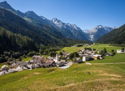 Casaccia in Bregaglia, Graubunden, Switzerland