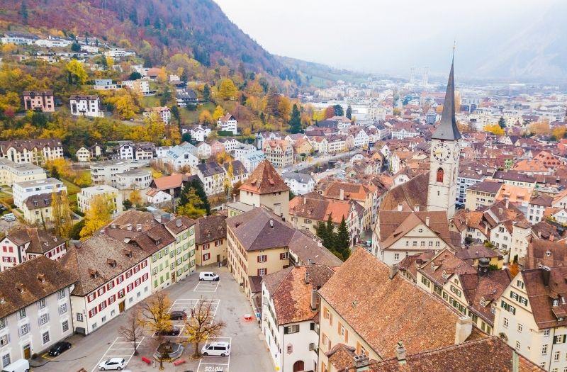 Chur, capital of Graubunden canton, Switzerland