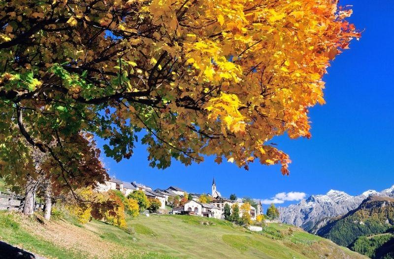 The village of Guarda in Switzerland's Lower Engadine.