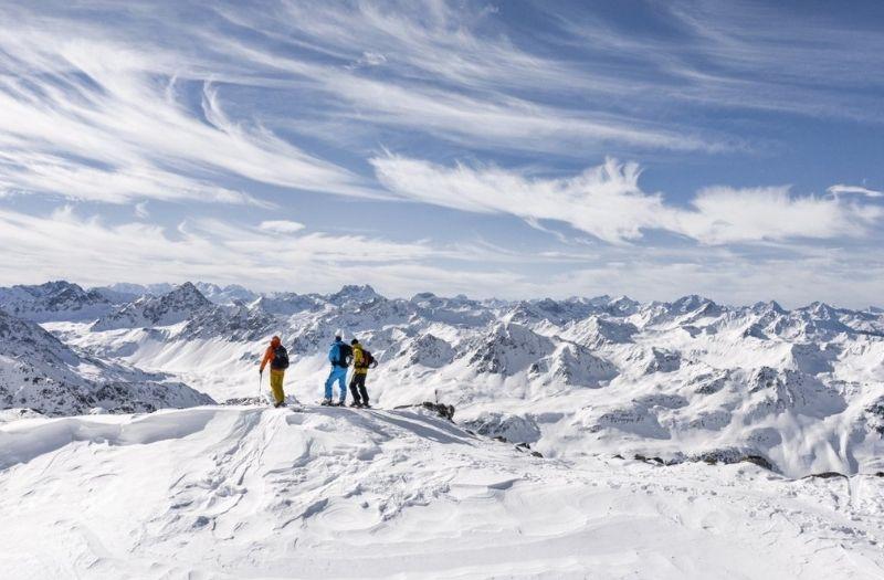 Skiing at Davos Klosters