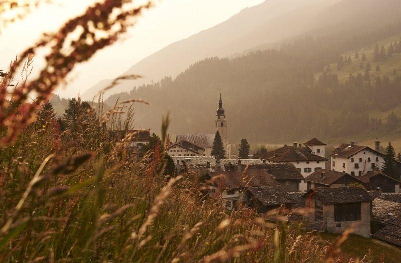 The village of Splugen in Switzerland