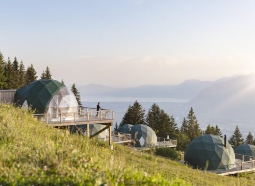 Whitepod Eco Luxury Hotel in Switzerlnad