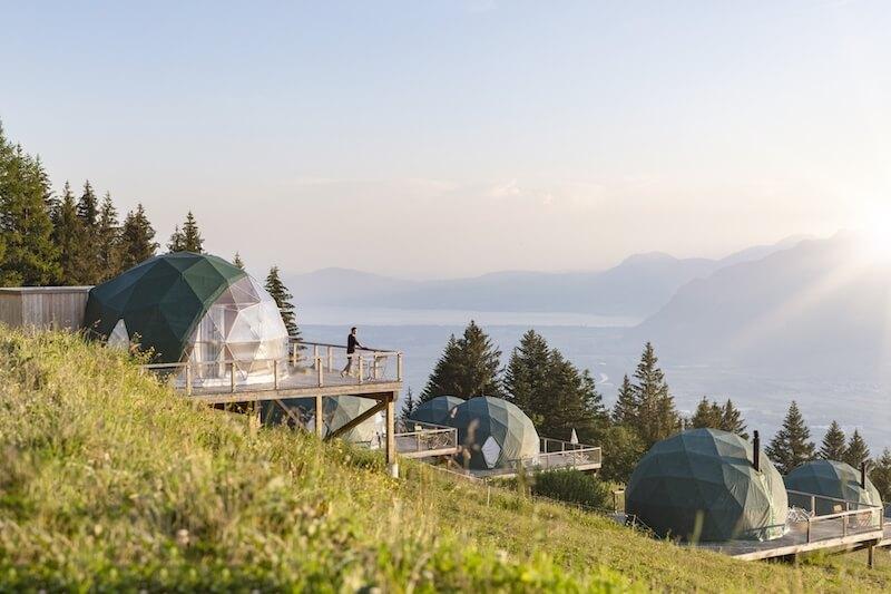 Whitepod Eco Luxury Hotel in Switzerlnad