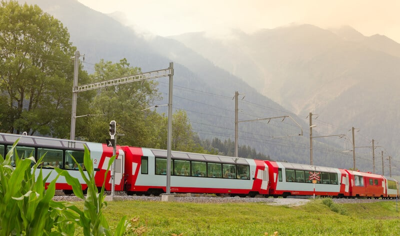 The Glacier Express route is part of the Grand Train Tour of Switzerland