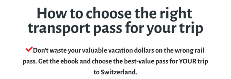 How to choose the right transport pass for Switzerland