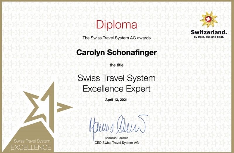 Swiss Travel System Excellence Expert Diploma