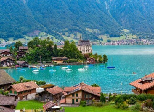 Iseltwald on Lake Brienz