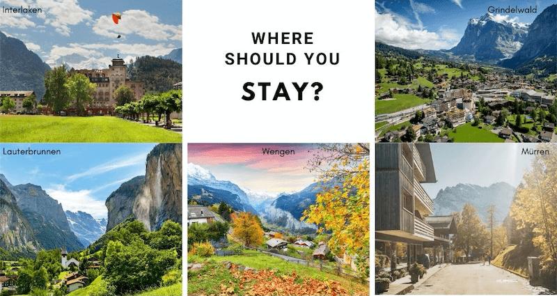 Where you should stay in the Jungfrau Region?