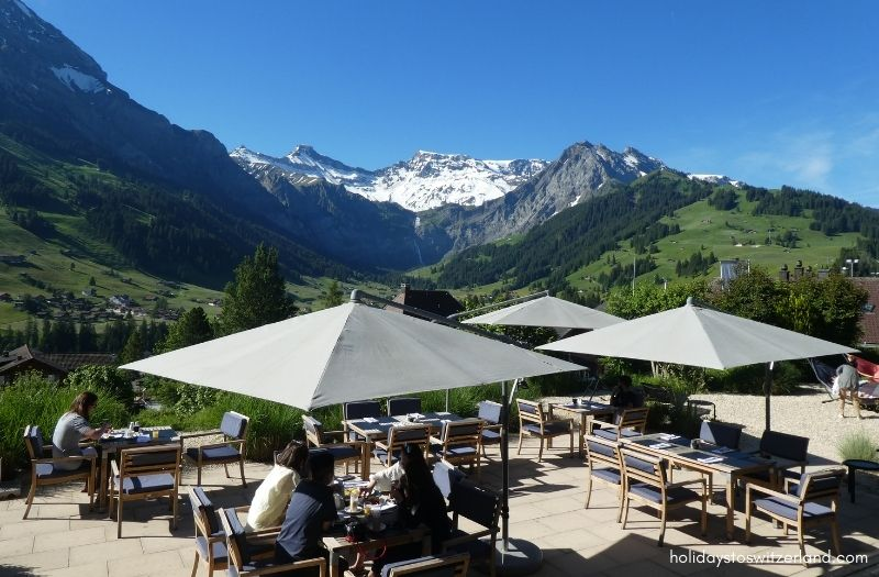 Cambrian Hotel outdoor dining terrace