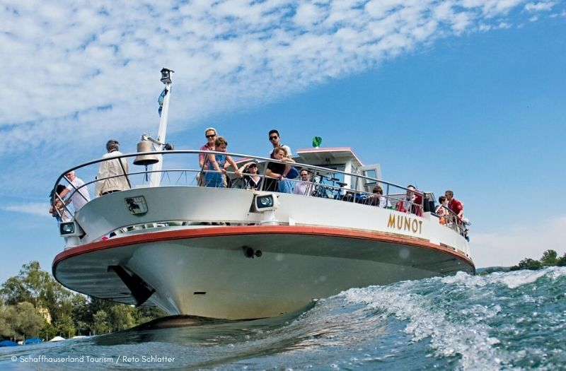 Boat cruises on the River Rhine are possible from Schaffhausen