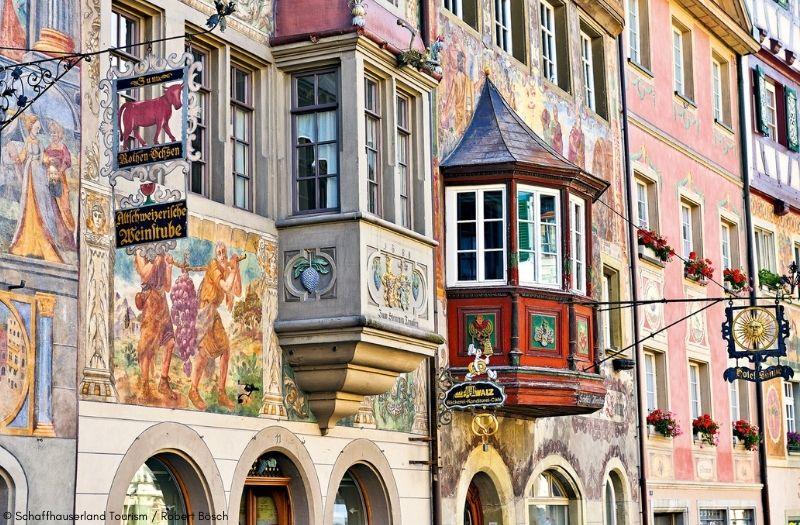 The pretty facades of Stein am Rhein's Old Town