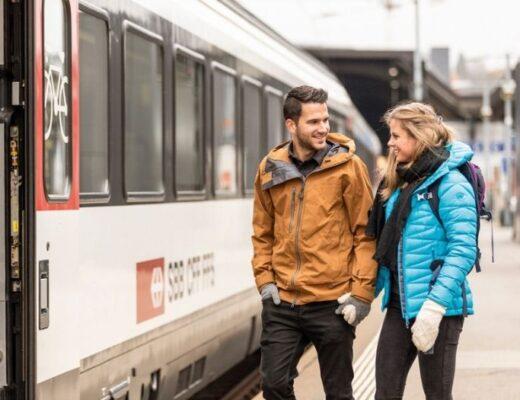 Train at Zurich main station