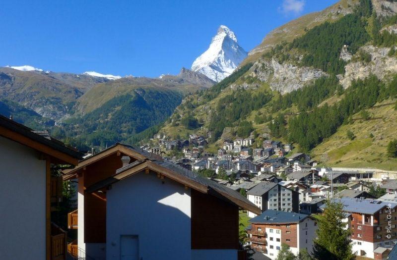 View of Matterhorn from apartment in Zermatt