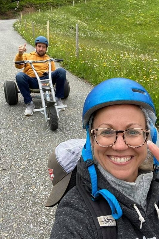 Mountain cart rides at Mt First near Grindelwald