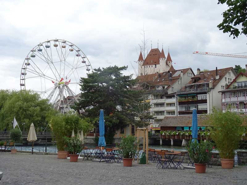 Thun Castle, Switzerland can be seen all over the town.