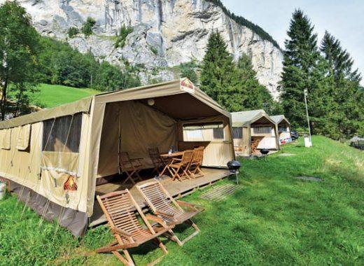 Safari tents at Camping Jungfrau, Lauterbrunnen
